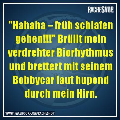 Danke, Biorhythmus!