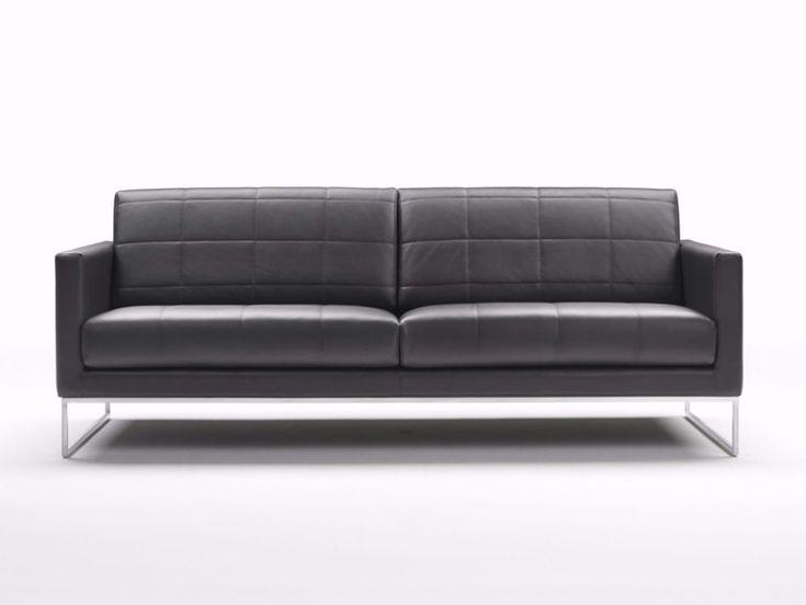 Gesteppte Leder Sofa - Wohnzimmermöbel (mit Bildern ...