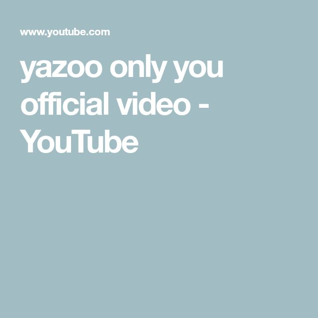 yazoo   only you official video - YouTube