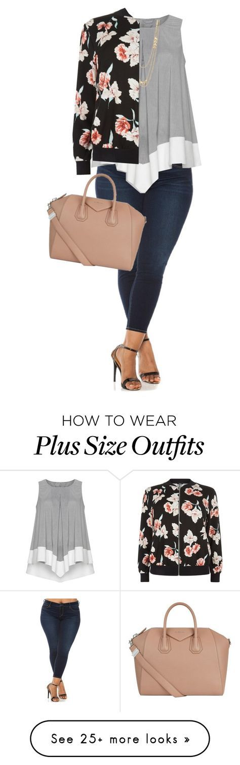 """""""Happy Sunday y'all!"""" by joannakirk on Polyvore featuring Slink Jeans, Gorjana, New Look, Givenchy and plus size clothing"""
