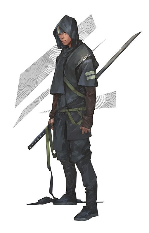 Ninja, Dae hoon Lee on ArtStation at https://www.artstation.com/artwork/RlR5X