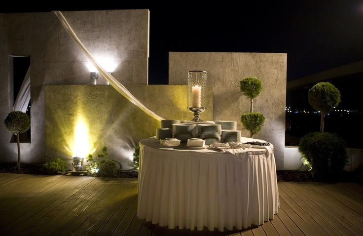 Welcome table for wedding reception @ Summer Times Roof Garden, Porto Palace Hotel, Thessaloniki