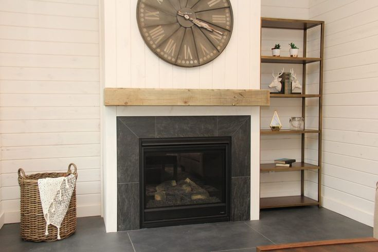 Grey Shiplap Wall
