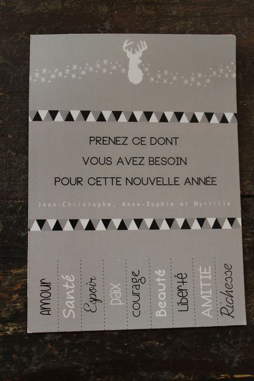 Carte de voeux - nouvelle année (have my students make their own right after New Years, and make resolutions!)