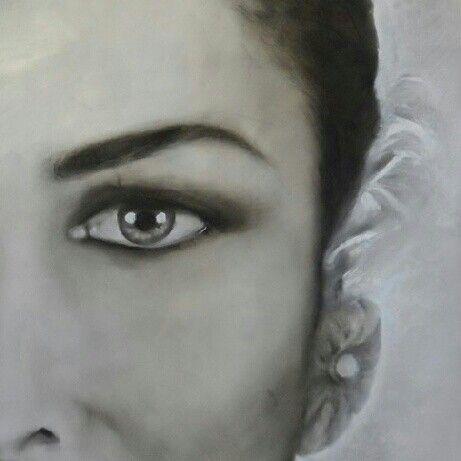 SW1 - Project in progress, painting - Daniela Montanari #art #oilpainting #scarlettwollenmann #danielamontanariart