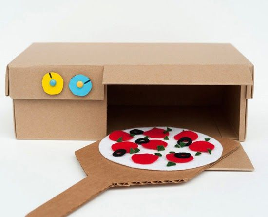 CARDBOARD PLAY KITCHEN    laclassedellamaestravalentina.blogspot.it                  SHOEBOX PIZZA OVEN      madebyjoel.com           ...