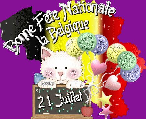 Bonne Fête Nationale la Belgique - 21 Juillet #fetenationalebelge chat juillet belgique ballons