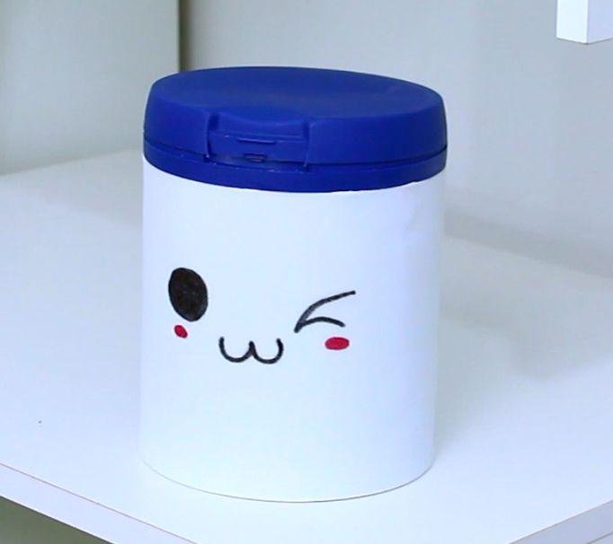 Como Reciclar Lata - Lixeira Kawaii