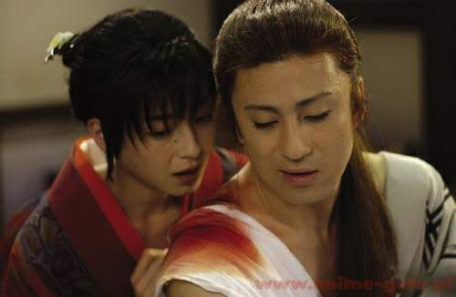 (Rie Miyazawa and Somegoro Ichikawa in Ashura no jo Hitomi)