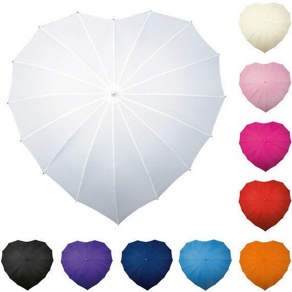 Bruiloft paraplu. Hart paraplu. Bruids door SimchaCentralShop