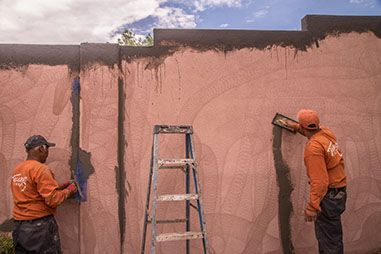 Stucco repair services by Tesuque Stucco. Learn about our #stucco repair process here.