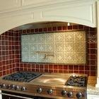 Ceramic tile backsplash
