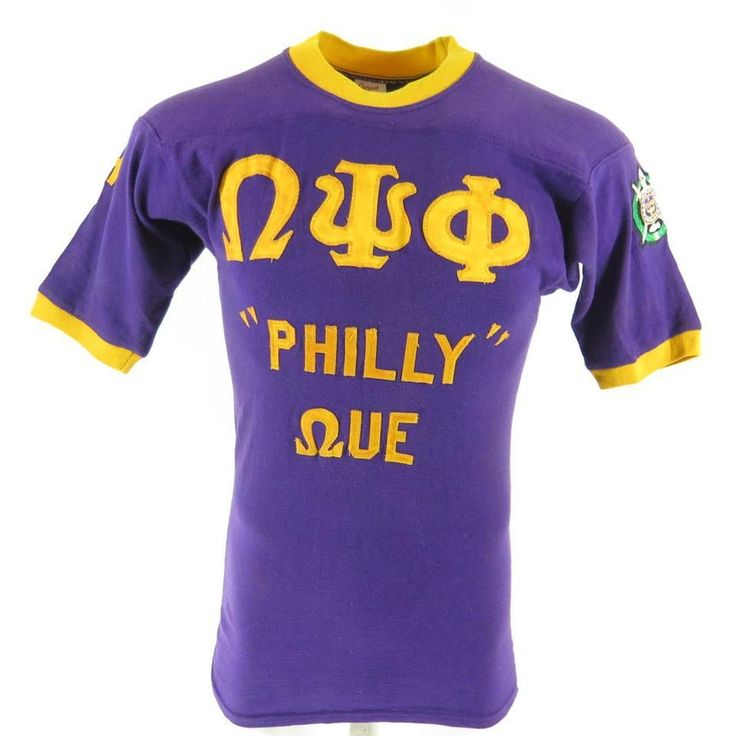 <p>Great shirt from an Omega Psi Phi fraternity event, Martin International All-Star from 1980! Purple ringer with patch accents, wear with pride!</p>