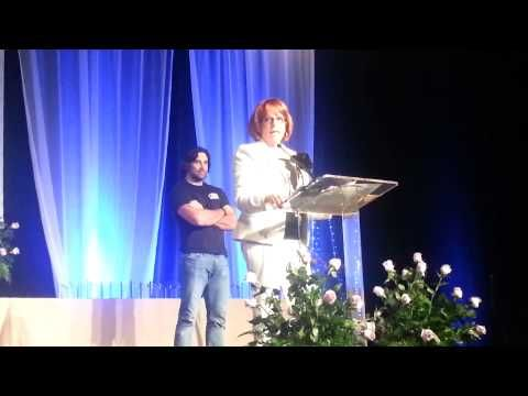 Cherry Adair Receives Career Achievement Award from RT Booklovers Convention - YouTube