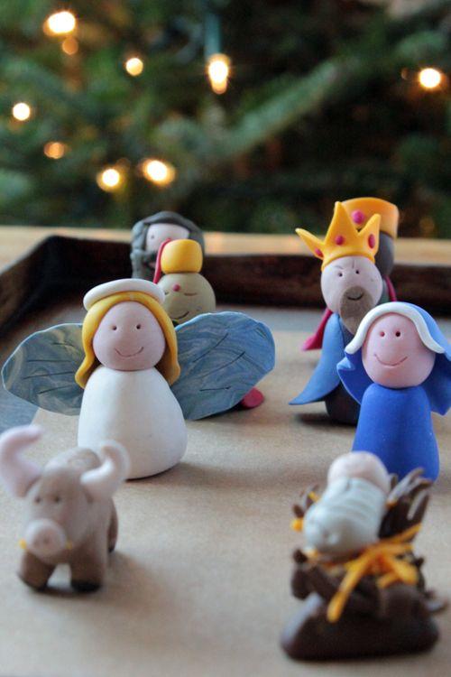 Polymer clay nativity crafts pinterest polymers - Belen navidad manualidades ...