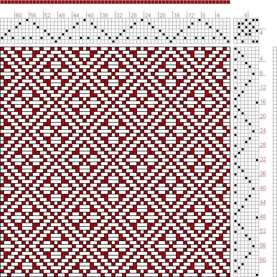 Hand Weaving Draft: Page 129, Figure 21, Donat, Franz Large Book of Textile Patterns, 7S, 7T - Handweaving.net Hand Weaving and Draft Archive