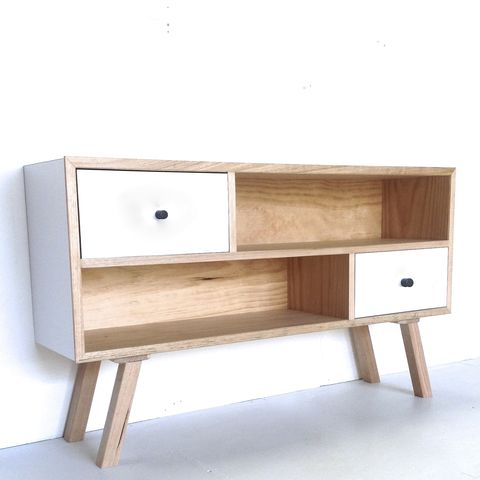 X SIDEBOARD - Scandi style minimalist entertainment unit or shelf system – Milkcart