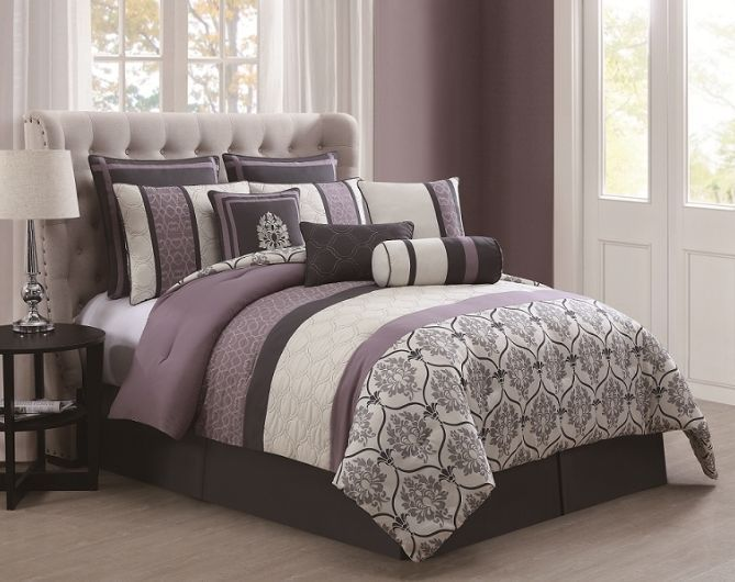 King Size Comforter Set Bedding Clearance Purple Luxury Bedding Romantic  Elegant