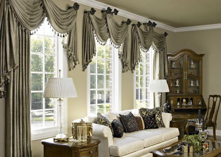 Window Treatment for Bay Windows : Window Treatment Ideas Bay Windows With A Table Lamp