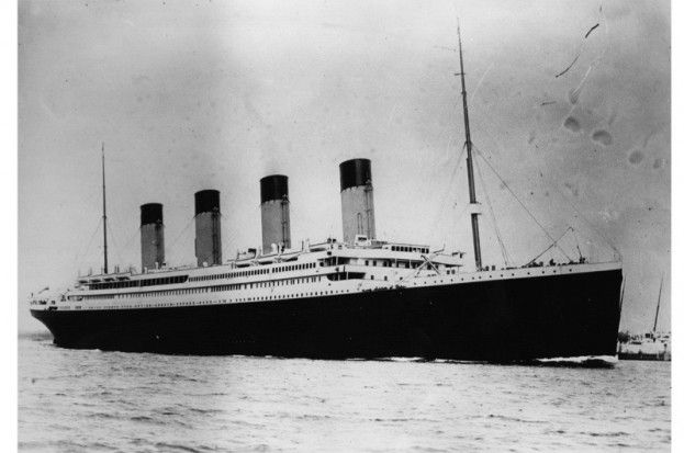The ill-fated RMS Titanic. Her distress signal received by the SS Burma is one of the most poignant surviving documents in history, says Peter Snow. (Photo by Central Press/Getty Images)
