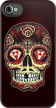 """""""Sugar Skull"""" iPhone 4/4S Deflector by satansbrand"""