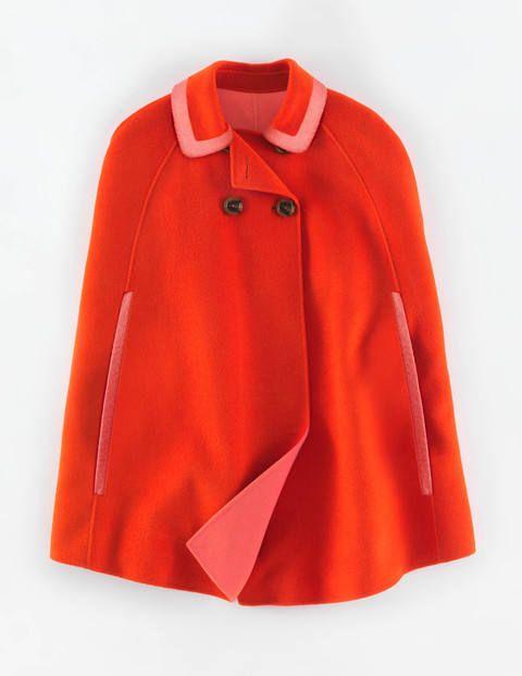 boden Charlotte Cape cadmium orange
