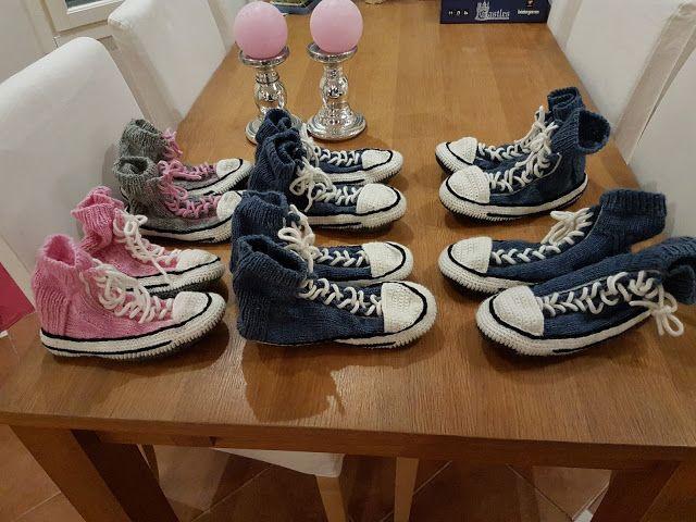 by MiaBina: Sukkia, sukkia - Converse Slipper Socks