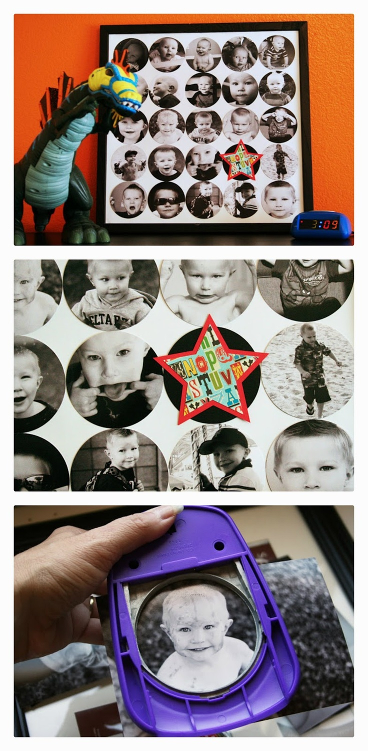 eighteen25: circle punch photo collage - super simple home decor
