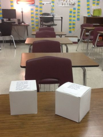 Math Tales from the Spring: Introducing Systems - Buy boxes at Hobby Lobby and use them to physically create a system.  Problem set included in link.