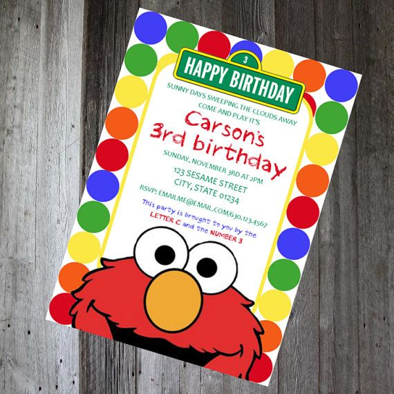 80 best birthday party ideas sesame street images on pinterest sesame street birthday invitation diy printable pencilmouthdesigns etsy filmwisefo