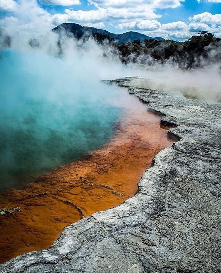 Champagne Pool, Rotorua, New Zealand #googleguides Instagram photo by @newzealandtravelreview •
