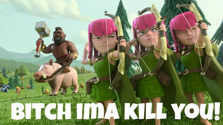Ima kill you! #coc #clashofclans #gamer #geek #freak #nerd #nerdy #galaxynote3