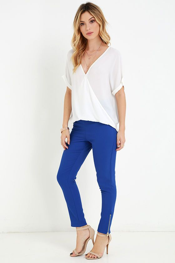 Piano Piece Cobalt Blue High-Waisted Trouser Pants at Lulus.com!