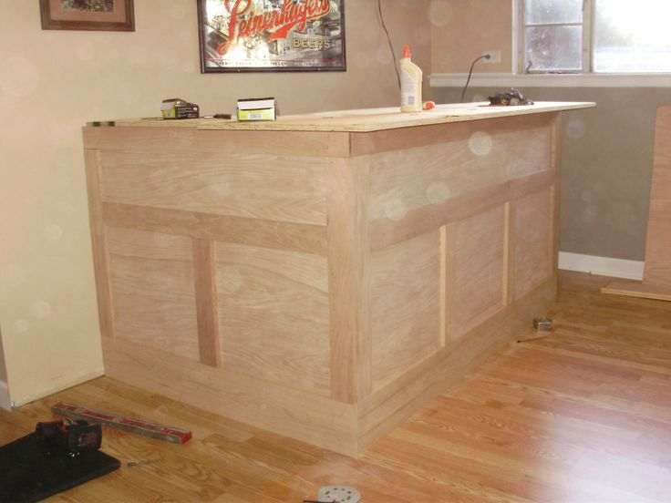 Step by step directions for building a home bar