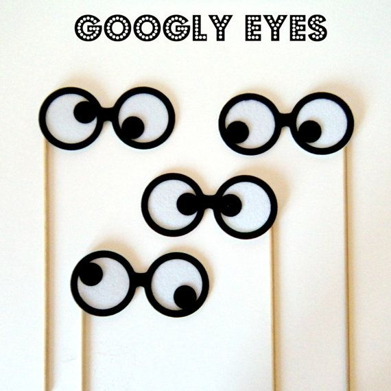 Photobooth prop KIT Googly Eyes by KittyDuneCuts on Etsy, $12.00