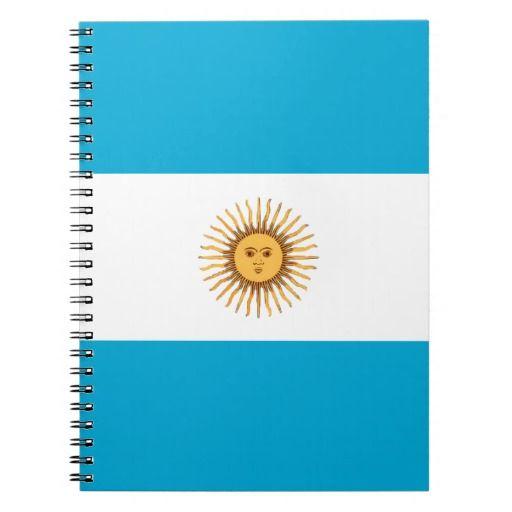 Argentina flag notebook