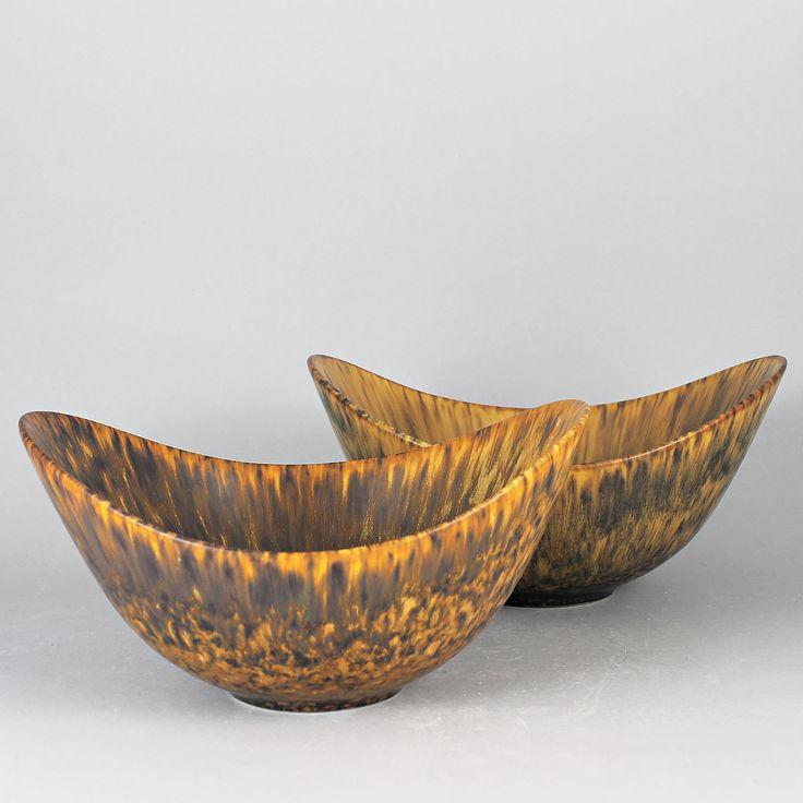 Gunnar Nylund (ARO 1954) Two Brillant Bowls