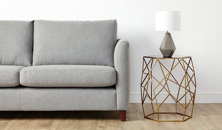 George Home Glass Top Geometric Side Table, read reviews and buy online at George at ASDA. Shop from our latest range in Home & Garden. Glistening brass tone...