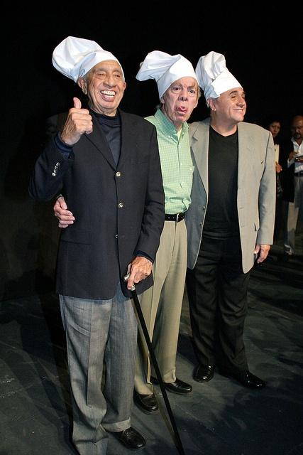 """Héctor Lechuga, Manuel """"El Loco"""" Valdéz y Alejandro Suárez."""