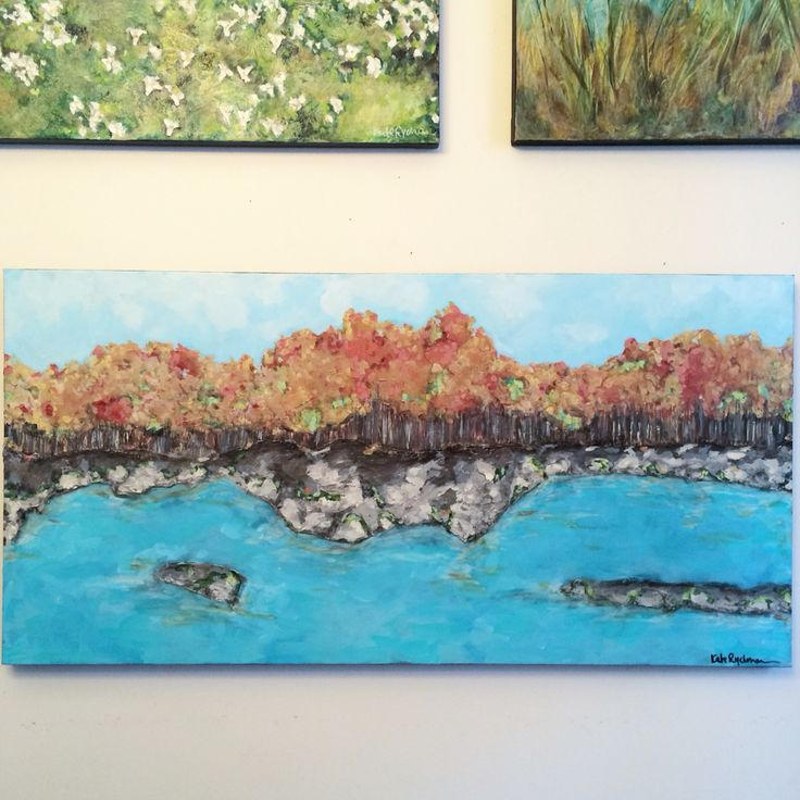 """Kate Ryckman  2015 Commission - Fall  24x48"""" *So much texture and depth"""