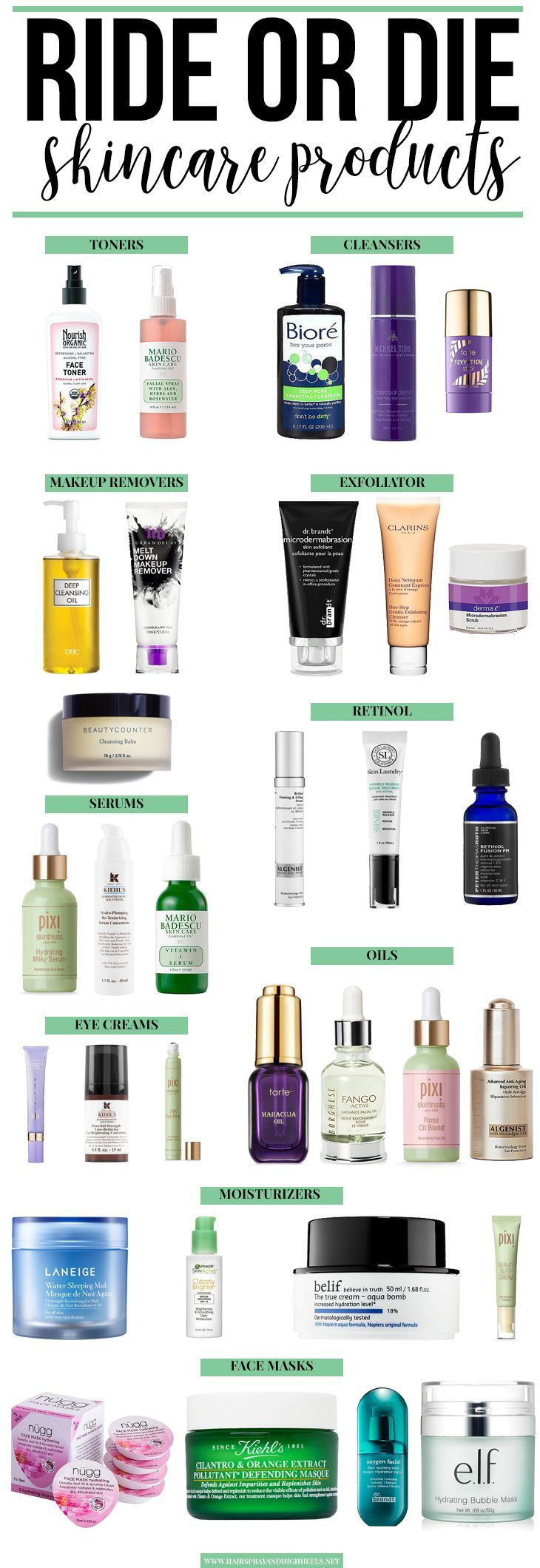 Benötigen Sie eine neue Hautpflege-Routine? Schau dir die Ride or Die Skincare-Artikel an, die dieser Blogger liebt! Beginnen Sie mit