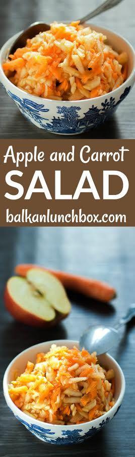 Apple and Carrot Salad recipe | apple recipe | carrot recipe | carrot dessert | healthy dessert | easy dessert | easy fruit dessert | fruit dessert how to | fruit salad | sweet salad | quick fruit salad | two ingredient salad | how to make apple and carrot salad | perfect apple and carrot salad | salata od jabuke i mrkve | recept za salatu od jabuke i mrkve | rendana salata od jabuke i mrkve | zdrava salata | recept za zdravu salatu | brza zdrava salata |