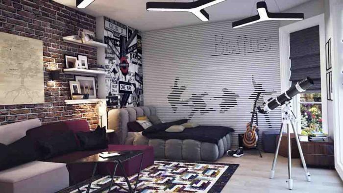 Дизайн комнаты для мальчика-подростка - 90 фото интересных интерьеров