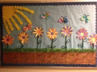 Spring Flowers Bulletin Board