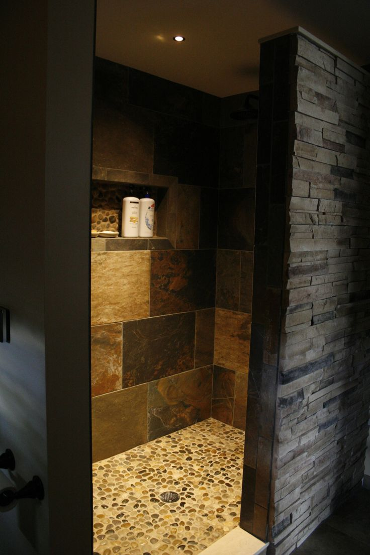 Best 25 bathroom showers ideas that you will like on pinterest master bathroom shower shower - Open shower bathroom design ...