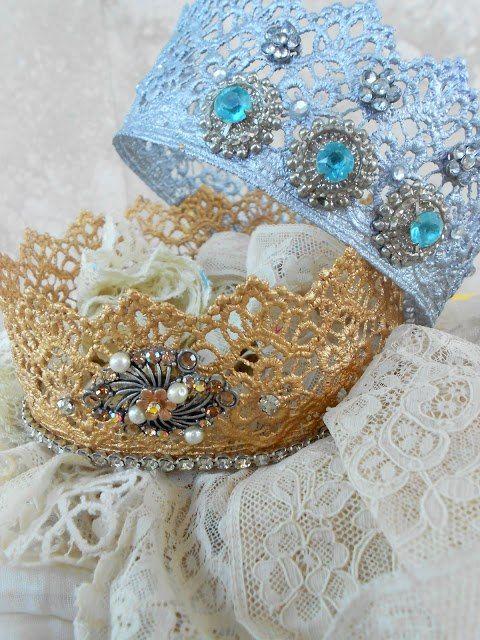 Праздничная корона из кружева
