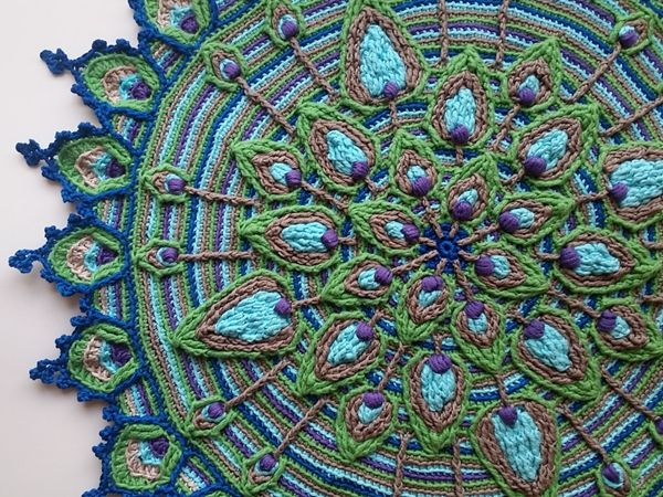 Crochet Pattern For Peacock Afghan Dancox For