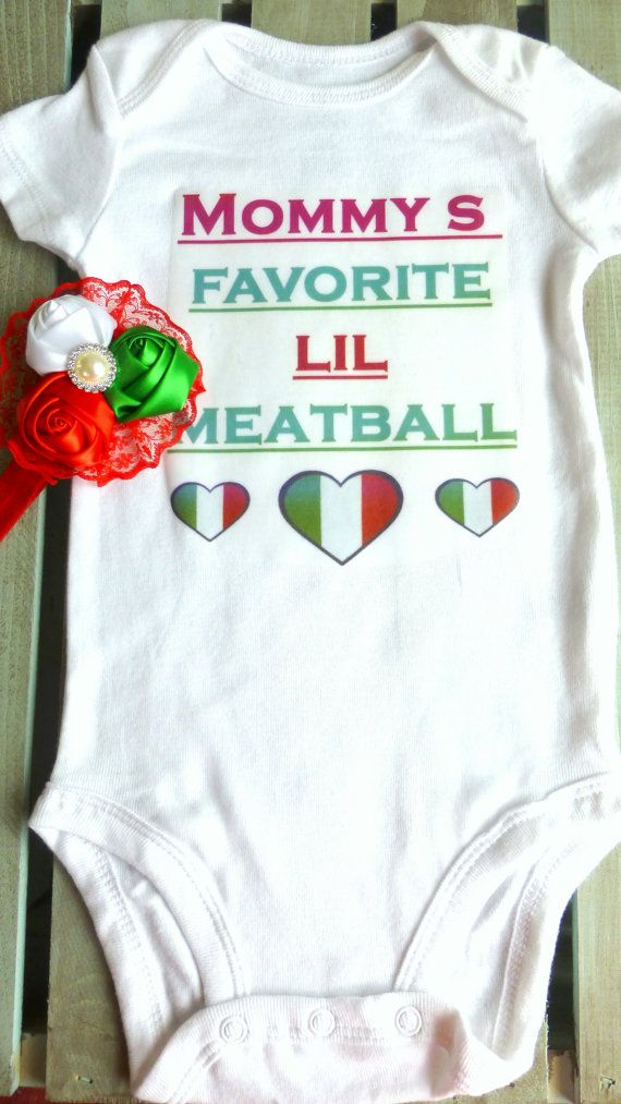 Baby OnesieBaby Girl Onesie Italian Onesie by PrettyPrettyLilGirls, $13.99