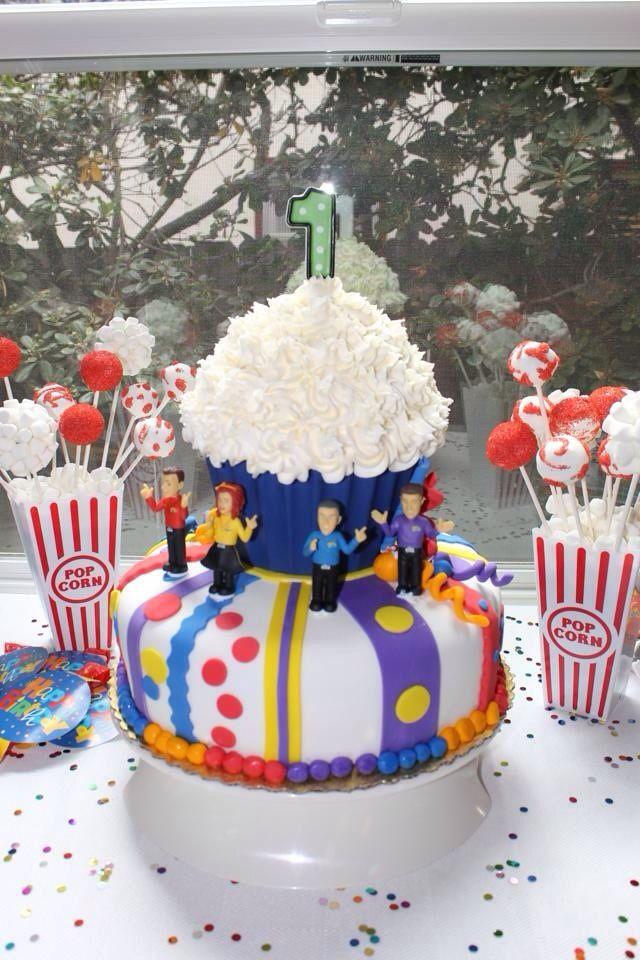 Wiggles 1st birthday cake