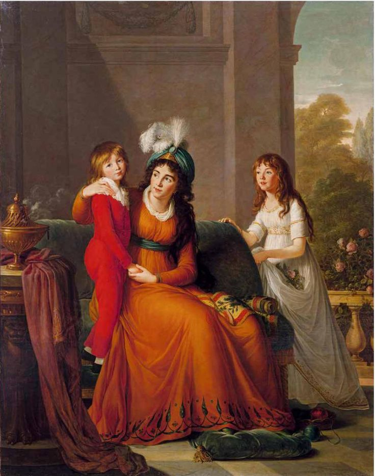 Countess Ecaterina Sergeevna Somoilov, née Princess Troubetzkoy (1763-1830) with her children, 1797 oil on canvas, 229 x 178 cm, signed and dated lower left: Vigee Le Brun Petersbourg 1797, Hermitage